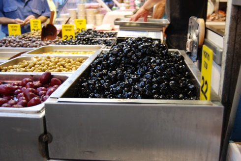 Olives in the Shuk