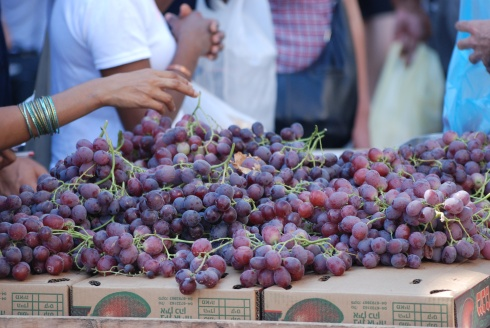 Grapes in the Shuk in Jerusalem