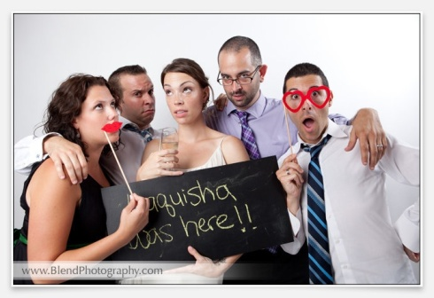 That's Jeremy, to my right, and the rest of our crew, being awesome on my wedding day.