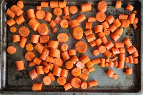 Carrots: Pre-roasting
