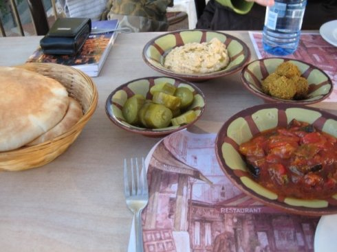 Hummus from Abu Gosh -- the best in the world!! (photo taken during an afternoon in Abu Gosh with my girl, Eva).