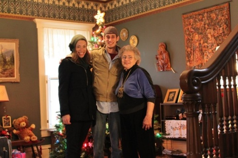 Ann the Inn Keeper with her two undercover Jewish guests on Christmas day.
