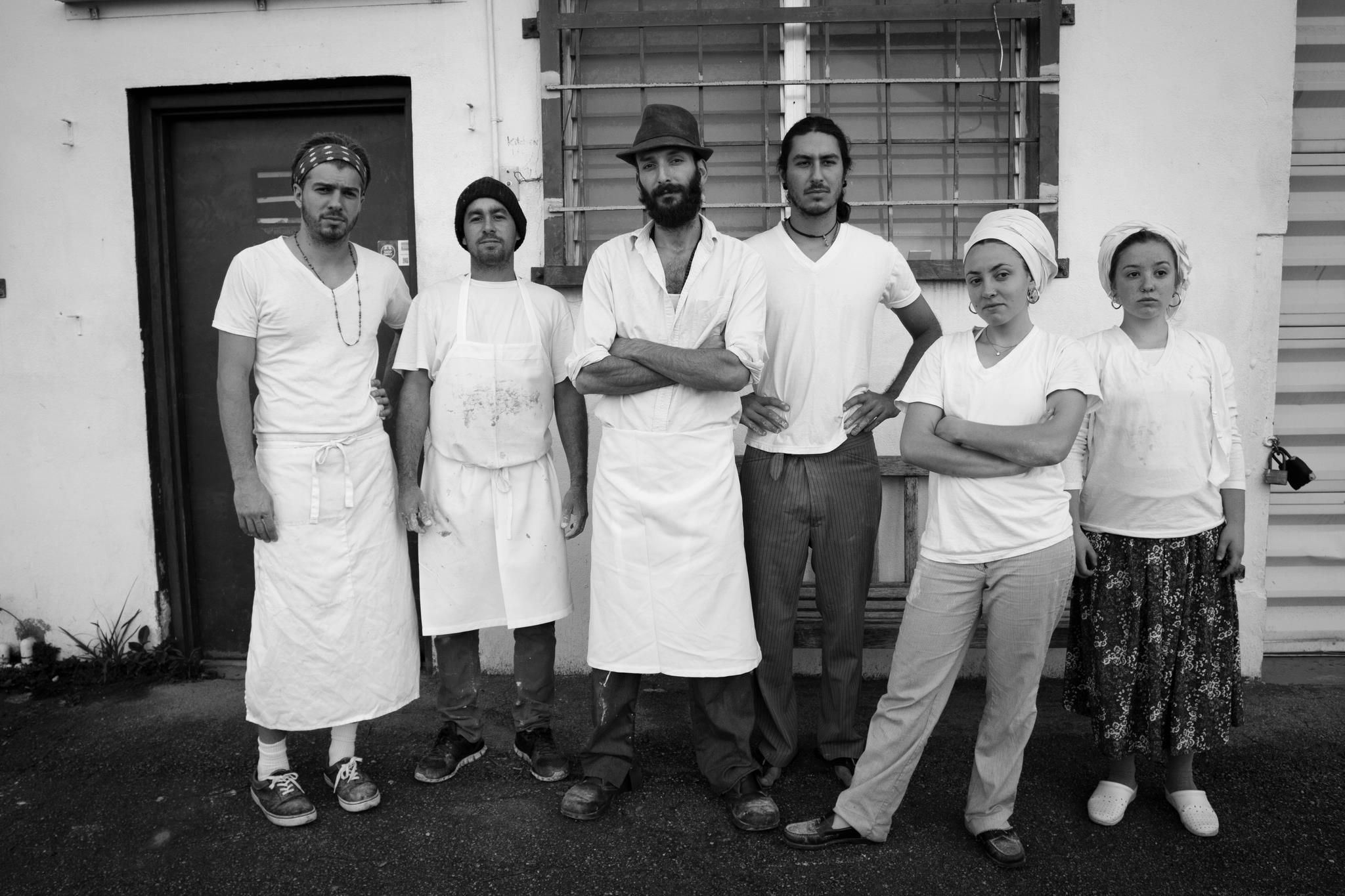 "The team behind ""Zak the Baker"".  They do smile, a lot, I promise."