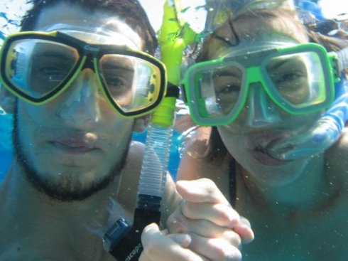 He took me snorkeling when we were first falling in love.  (Gulf of Eilat in the Red Sea)