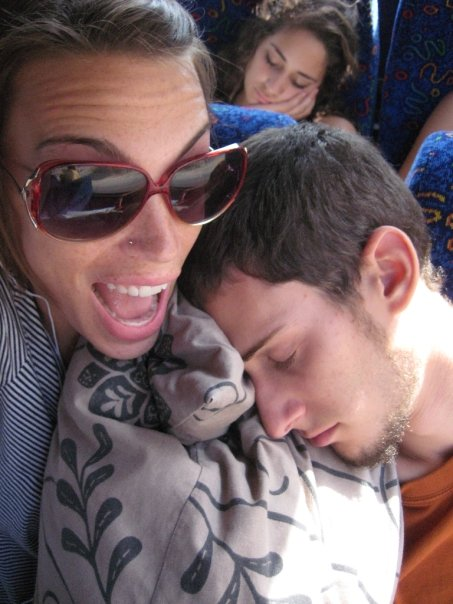Because Yonz was studying in Eilat and I was in Jerusalem, we traveled back and forth every shabbat - sometimes alone but sometimes together.  Or, something together but alone. Sleepy head (Eilat - Jerusalem circa 2008)