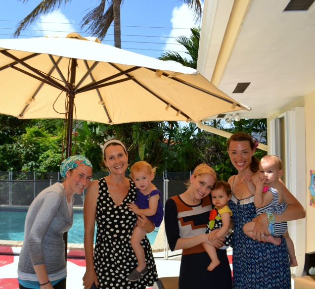 Just a bunch of moms being awesome by the pool