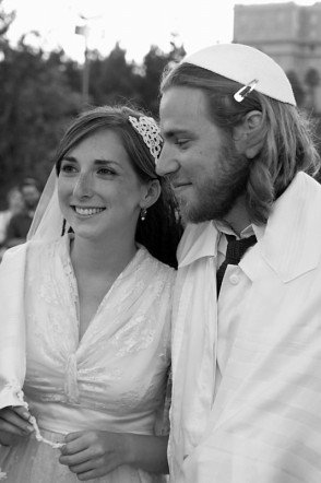 On Our Wedding Day in Jerusalem