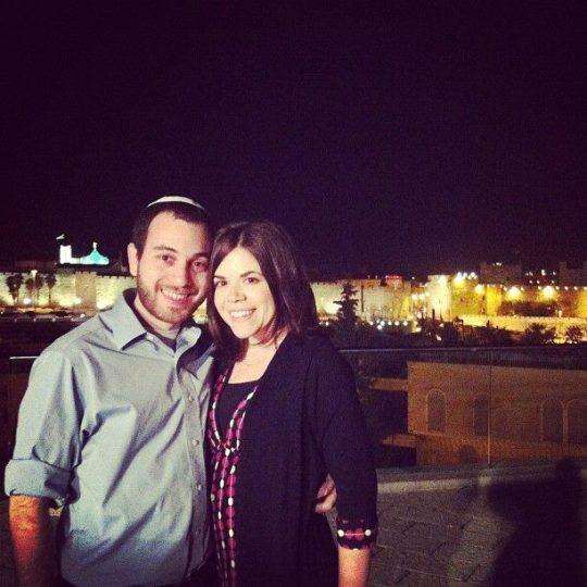 Ali and Noam in Jerusalem, 2013