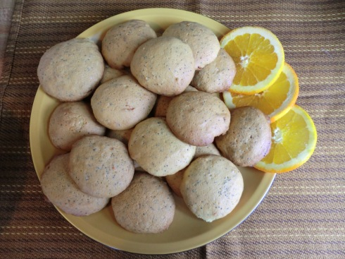 Ali's Orange Peel and Poppy Seed Cookies.