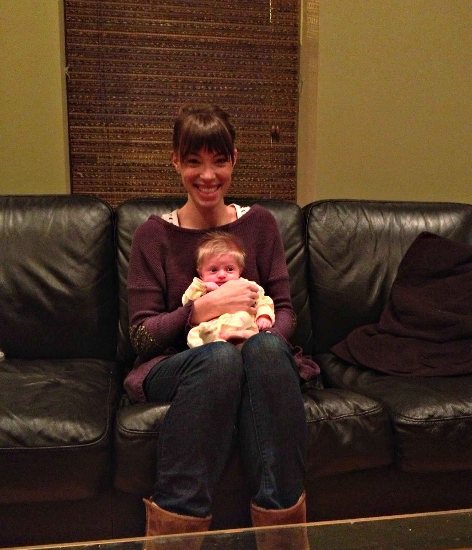Me and our sweet Violet.