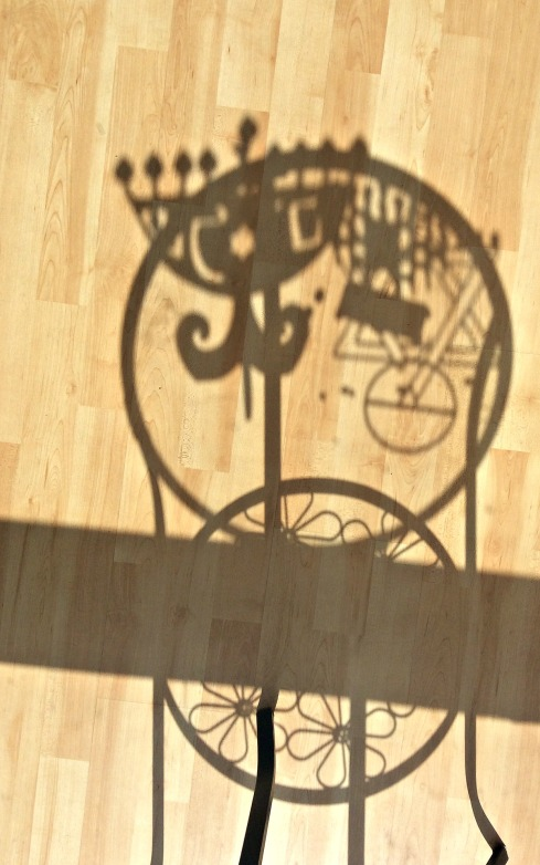 Fun with menorah shadows.