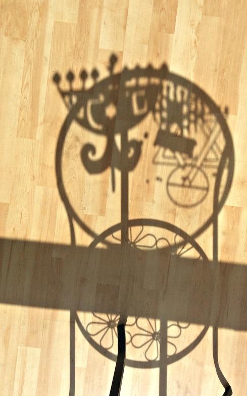 Fun with menorah shadows.